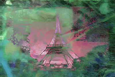 Eiffel Tower Mixed Media - Bastille Day 4 by Priscilla Huber