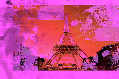 Eiffel Tower Mixed Media - Bastille Day 6 by Priscilla Huber