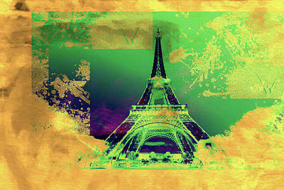 Eiffel Tower Mixed Media - Bastille Day 7 by Priscilla Huber
