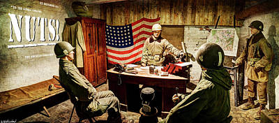 Photograph - Bastogne Barracks Hq - Nuts. by Weston Westmoreland