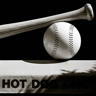 Hot Dogs Photograph - Bat And Ball by Dave Bowman