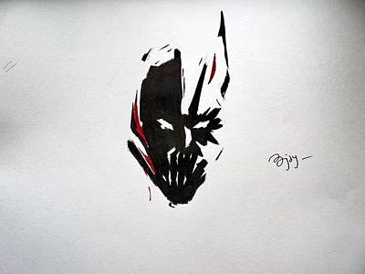 The Dark Knight Drawing - Bat-bane by Ajay Atroliya