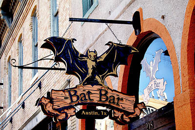 Photograph - Bat Bar - Austin Texas by Art Block Collections