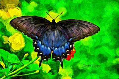 Herb Painting - Bat Butterfly by Leonardo Digenio