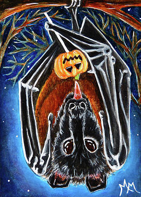 Painting - Bat Candy by Monique Morin Matson