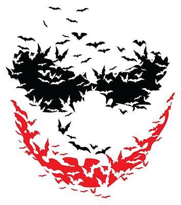 Bat Face Art Print