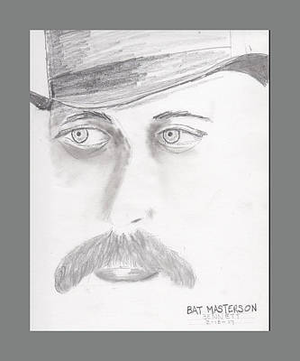 Drawing - Bat Masterson by John Bennett
