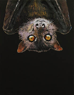 Lowbrow Painting - Bat by Michael Creese