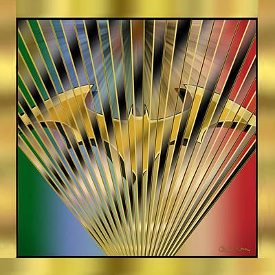 Digital Art - Bat Rays - Chuck Staley by Chuck Staley