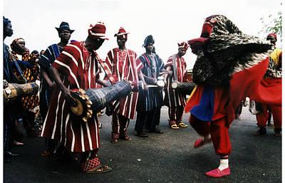 Photograph - Bata Drummers From Oyo by Muyiwa OSIFUYE