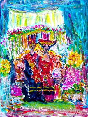 Painting - Batak Weding by Wanvisa Klawklean