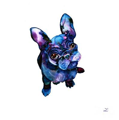 French Bulldog Gifts Painting - Batdog by Zaira Dzhaubaeva