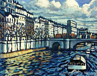 Bateau Mouche Art Print by Brian Simons