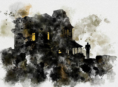 Bates House Art Print by Rebecca Jenkins