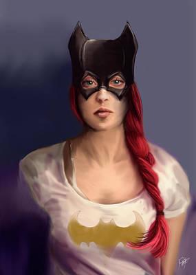 Batgirl Art Print by Jason Longstreet