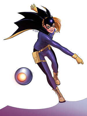 Batgirl Digital Art - Batgirl by Khaled Alsabouni