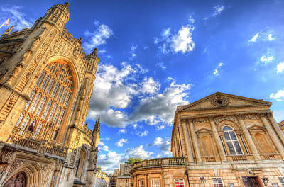 Photograph - Bath Abbey And Baths by David Pyatt