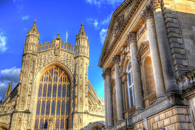 Photograph - Bath Abbey And Roman Baths by David Pyatt