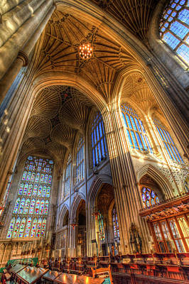 Photograph - Bath Abbey Architecture  by David Pyatt