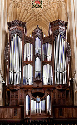 Photograph - Bath Abbey Organ by Jenny Setchell