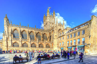 Photograph - Bath Abbey Summer by David Pyatt