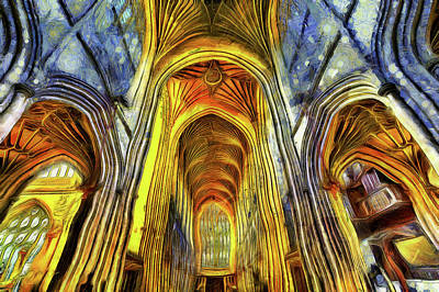 Photograph - Bath Abbey Van Gogh by David Pyatt