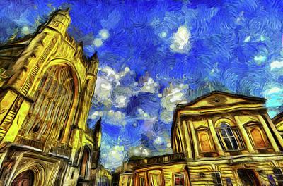 Impressionism Photos - Bath City Van Gogh by David Pyatt
