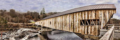 Photograph - Bath Covered Bridge by Heather Applegate