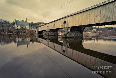 Photograph - Bath Covered Bridge New Hampshire by Edward Fielding