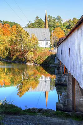 Photograph - Bath Covered Bridge by Newman Artography