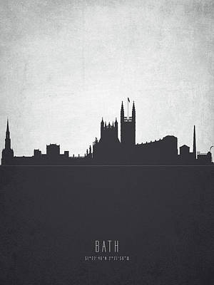 Bath England Cityscape 19 Art Print by Aged Pixel