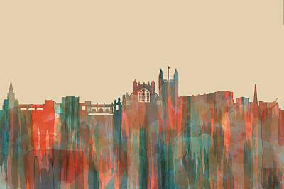 Digital Art - Bath England Skyline by Marlene Watson