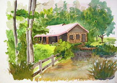 Painting - Bath House At Paris Mountain by John Bennett