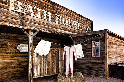 Bath House In Old Tucson Art Print by Wendy White