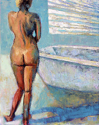 Wall Art - Painting - Bath by Leslie Rock