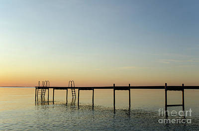Photograph - Bath Pier Silhouette by Kennerth and Birgitta Kullman