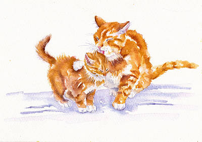 Painting - Bath Time by Debra Hall