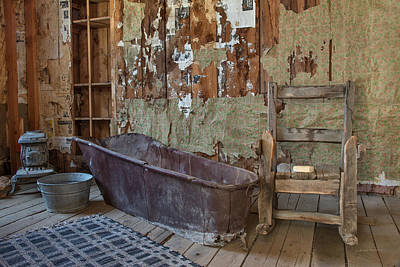 Old West Photograph - Bath Time by Leland D Howard