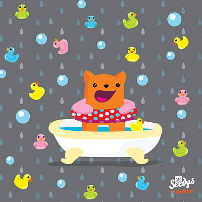 Bath Time  Art Print by Seedys