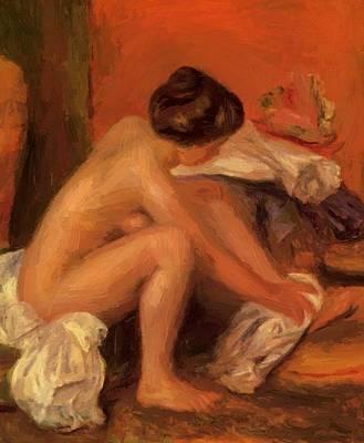 Bather Drying Her Feet 1907 Art Print