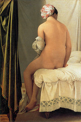 Of Nudes Painting - Bather Of Valpincon by Jean-August-Dominique Ingres