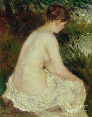 Rear Painting - Bather by Pierre Auguste Renoir