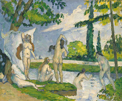 Painting - Bathers, 1874-1875 by Paul Cezanne