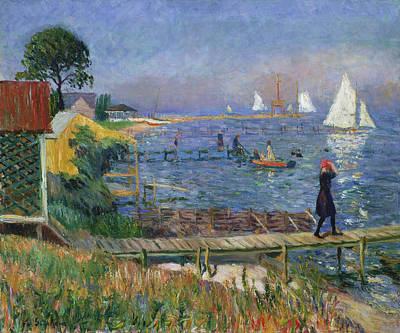 Bathers At Bellport Art Print by William Glackens