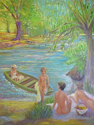 Bathers On A Summer Day Art Print