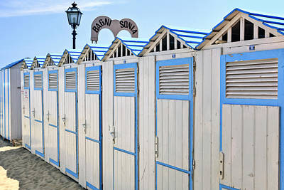 Bathhouses In The Mediterranean Print by Joana Kruse