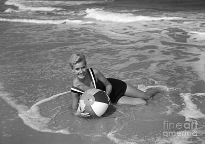 Photograph - Bathing Beauty, C.1960s by D Corson and ClassicStock