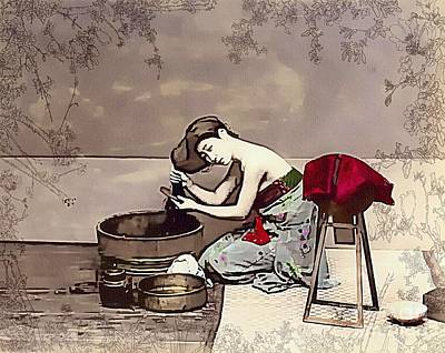 Digital Art - Bathing Beauty Of Japan by Ian Gledhill