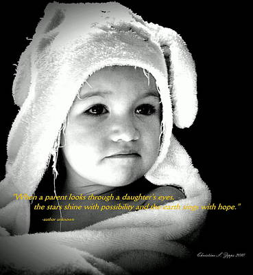 Photograph - Bathing Beauty Toddler - Paintograph With Daughter Quotation by Christine S Zipps