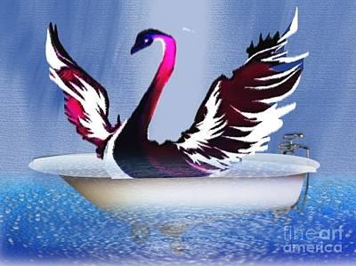State Love Nancy Ingersoll - Bathing Swann by Belinda Threeths